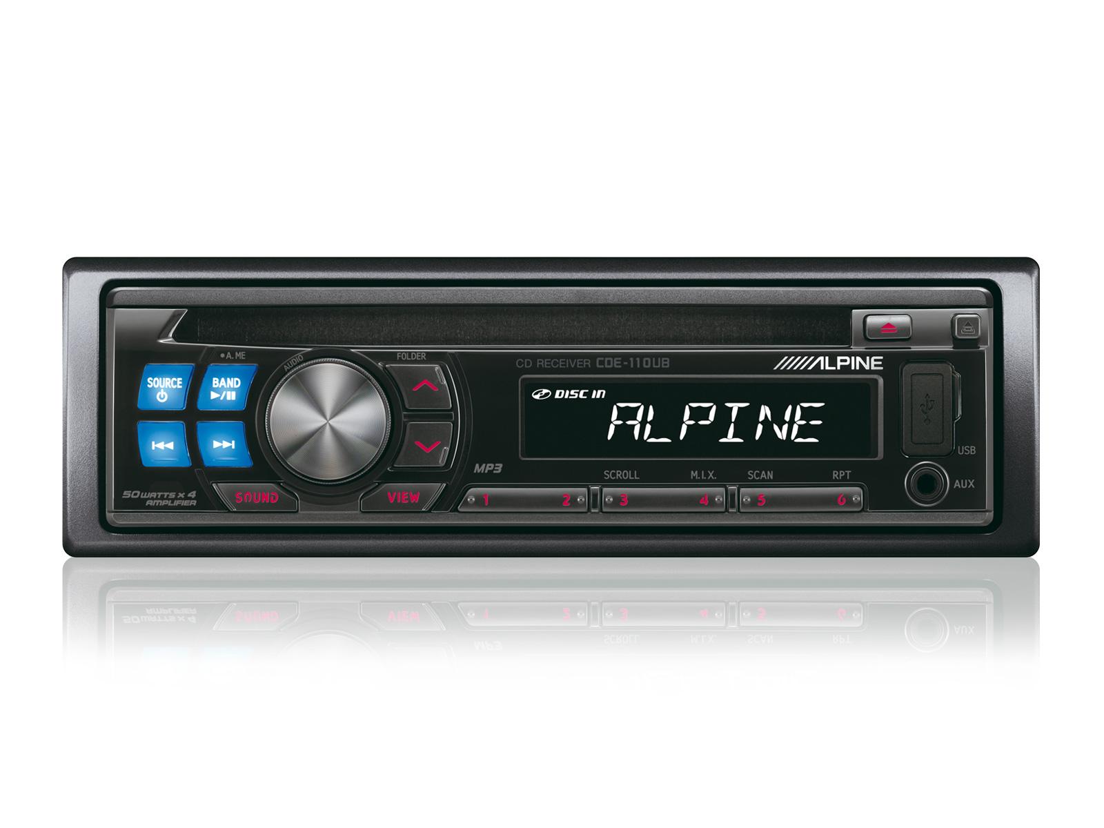 Alpine инструкция usb автомагнитола cde-110ub