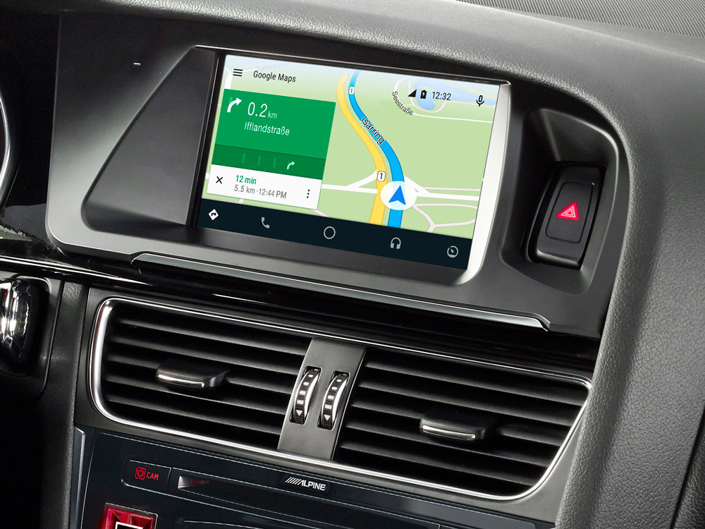 информационно развлекательная система 7 для Audi A4 с картами