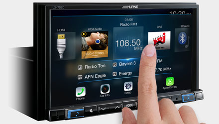 High Resolution WVGA Touch Screen  - iLX-702D