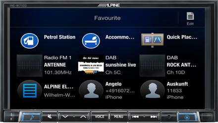 Favourites - Navigation System INE-W710D