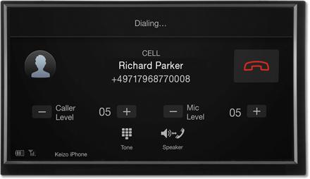Bluetooth hands-free Dialing - Navigation System X702D-F