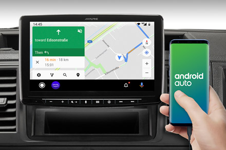 INE-F904T6 - Online Navigation with Android Auto