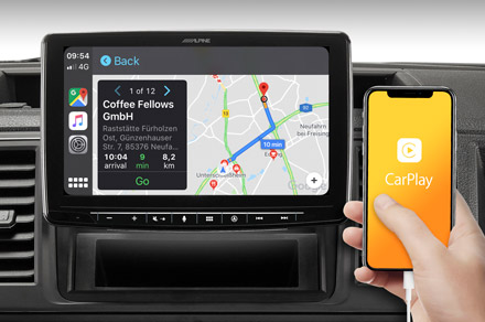 INE-F904T6 - Online Navigation with Apple CarPlay