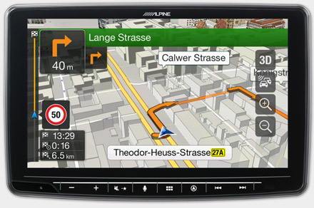 Built-in Navigation with TomTom Maps - INE-F904T6