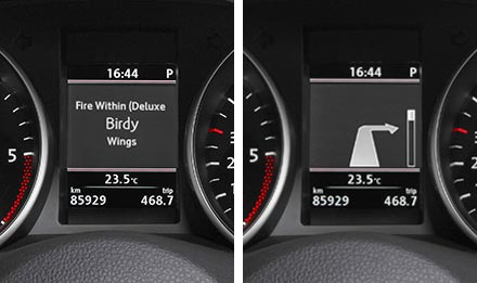 The Interface APF-X300VW retains visual representation of Driver Information Display